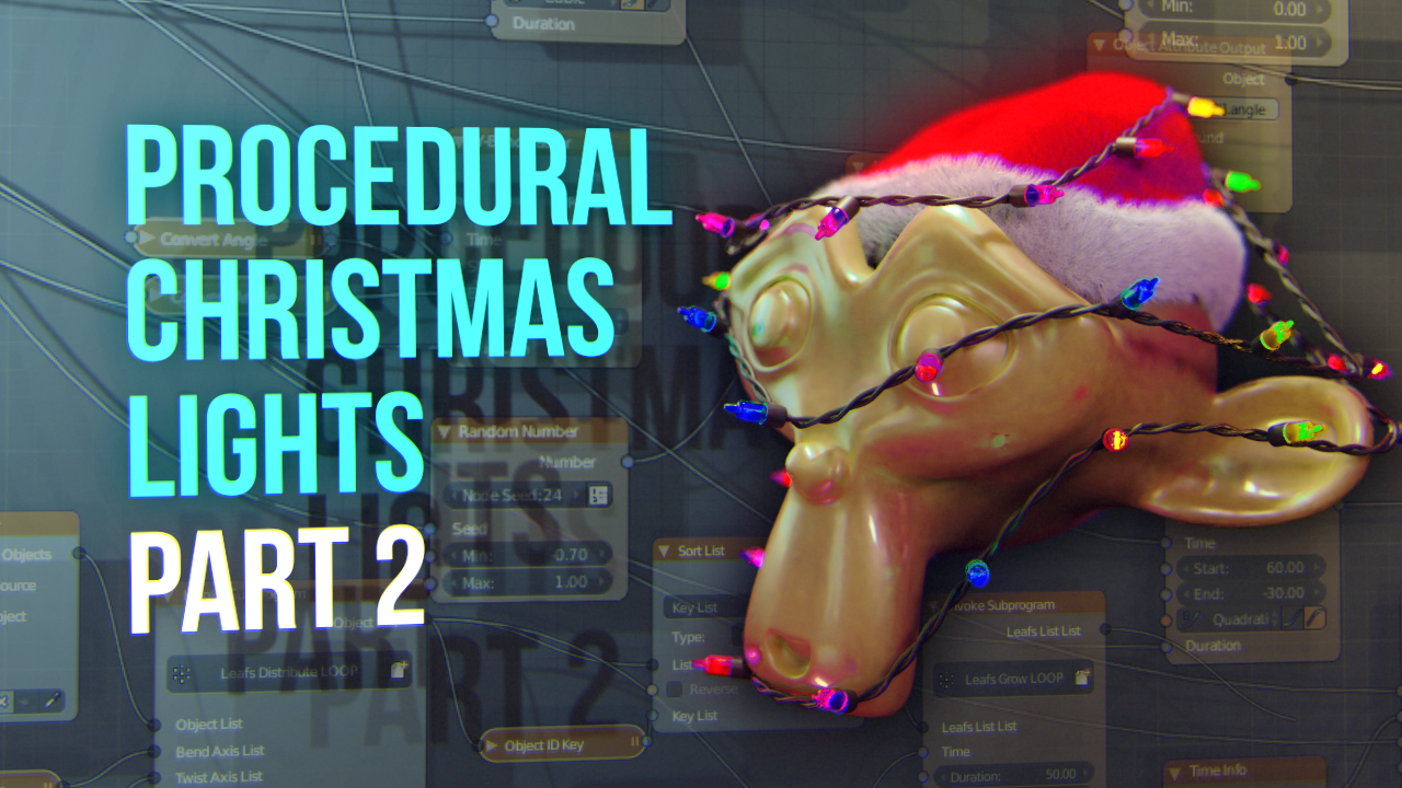 Tutorial: Procedural Christmas Lights with Blender & AN. Part 2