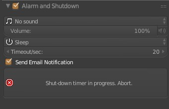 Alarm and Shutdown addon update to v1.2 beta